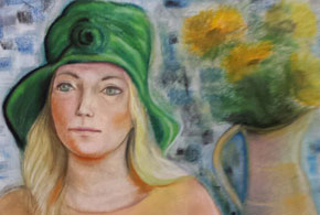 Lady in the Green Hat